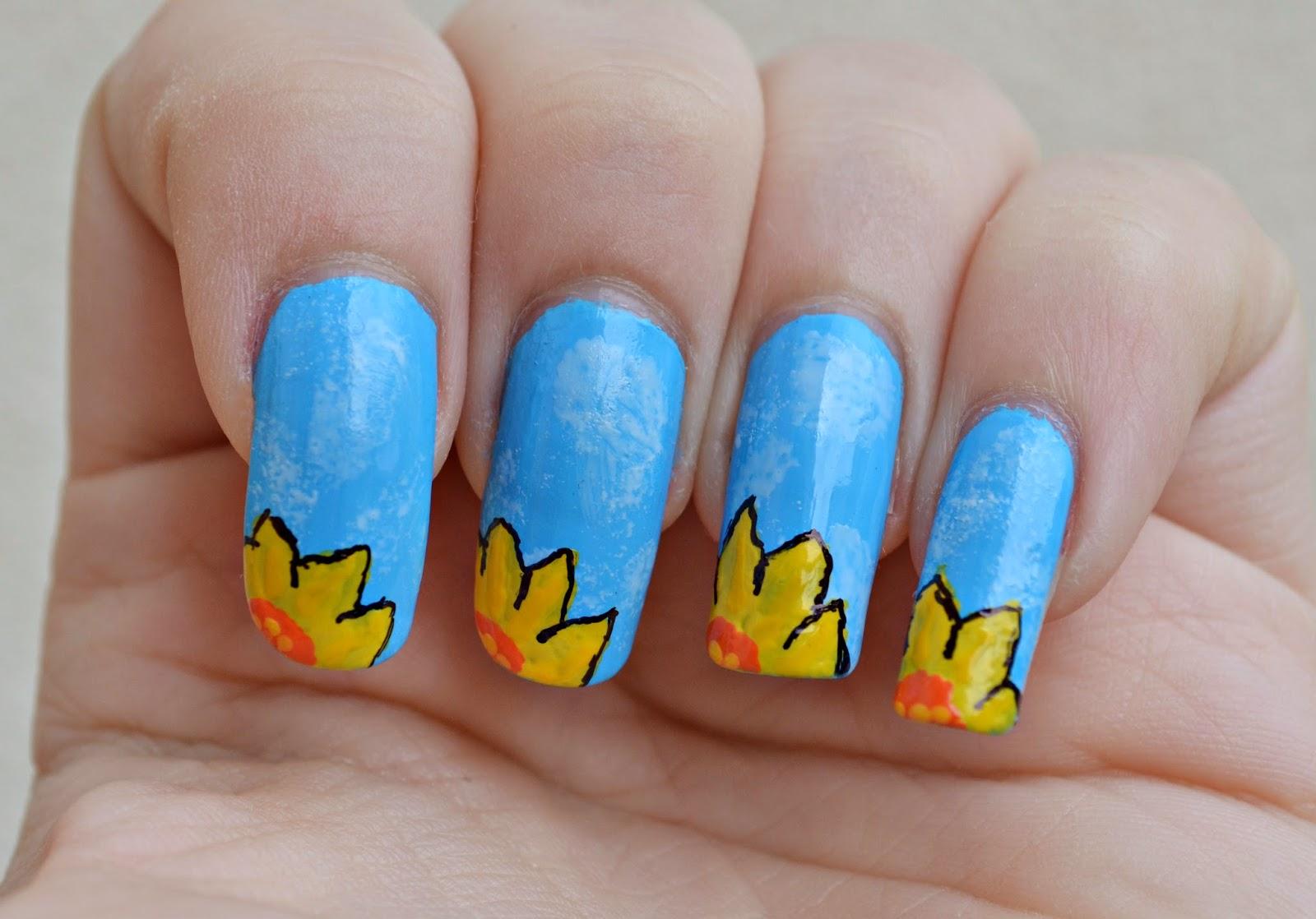 daffodil manicure