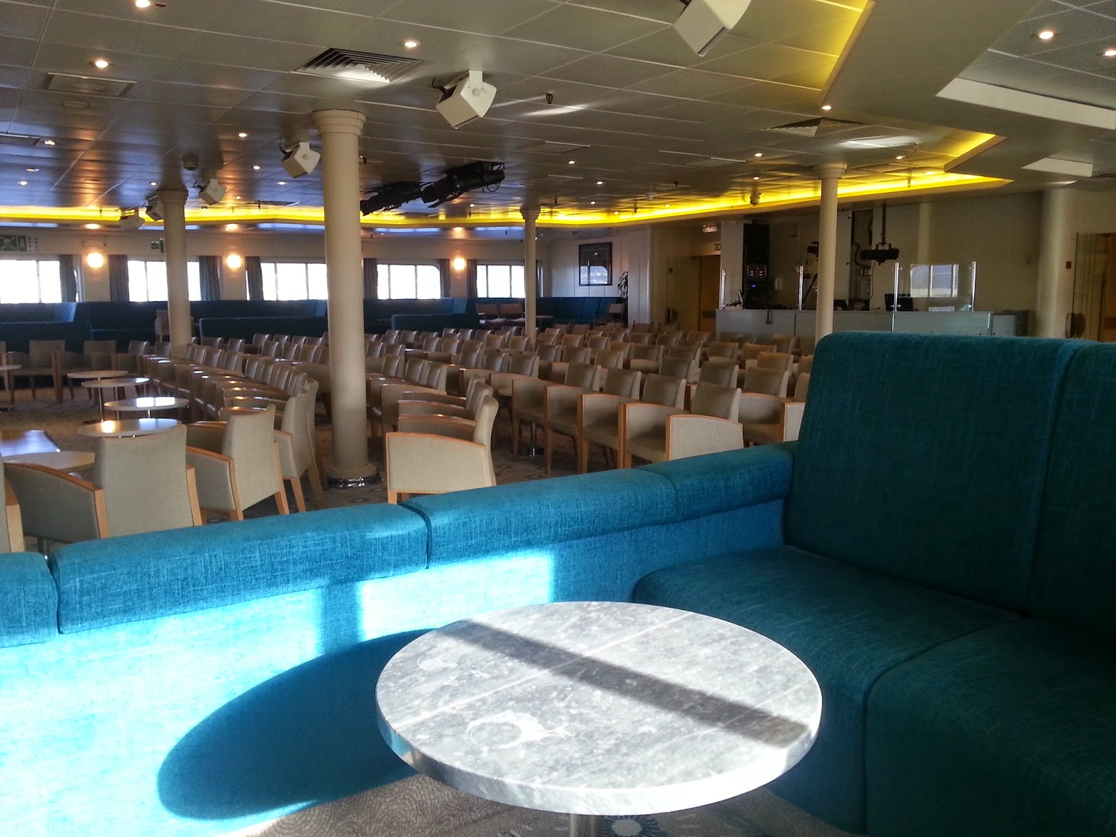 On Board Voyages of Discovery's Cruise Ship MV Voyager - Darwin Lounge