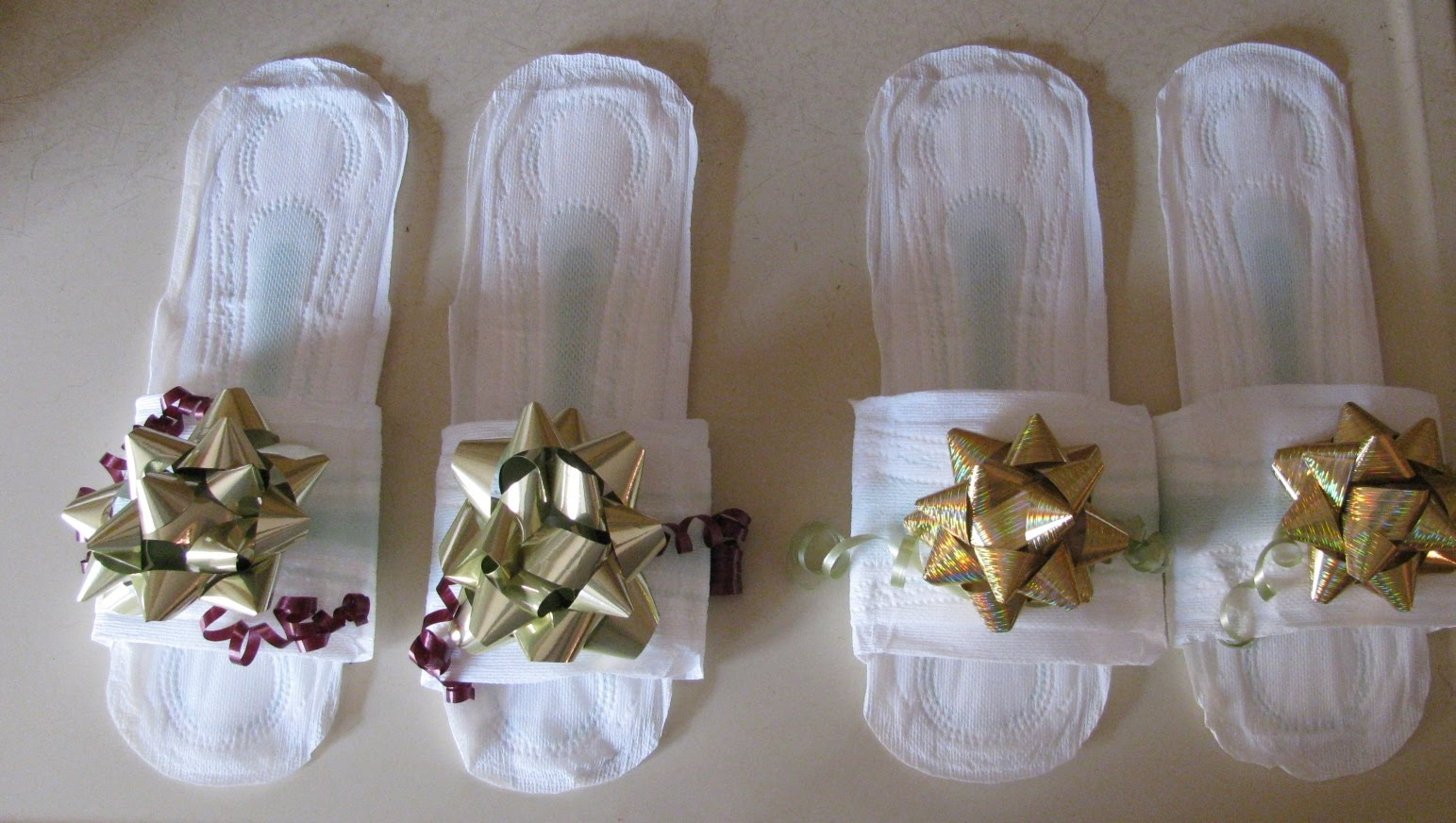how to make maxi pad slippers