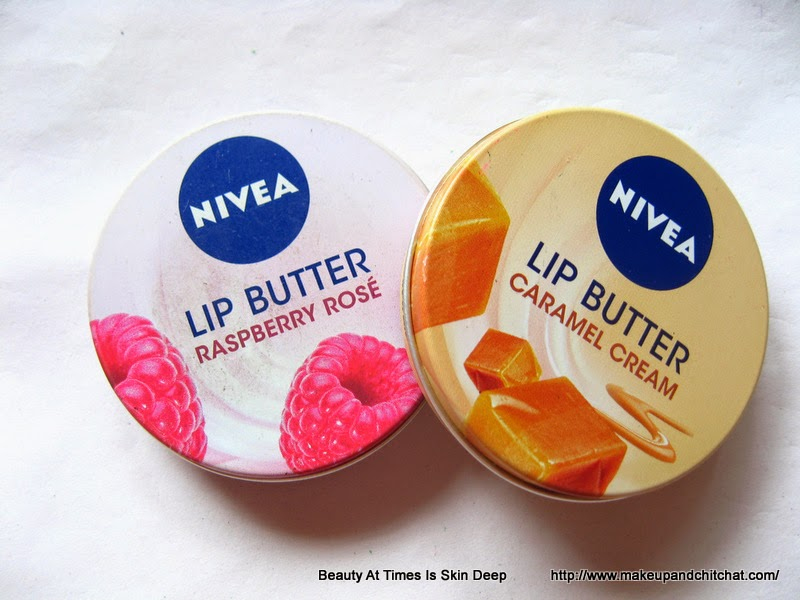 Photos of  Nivea Lip Butter in Caramel Cream and Raspberry Rose