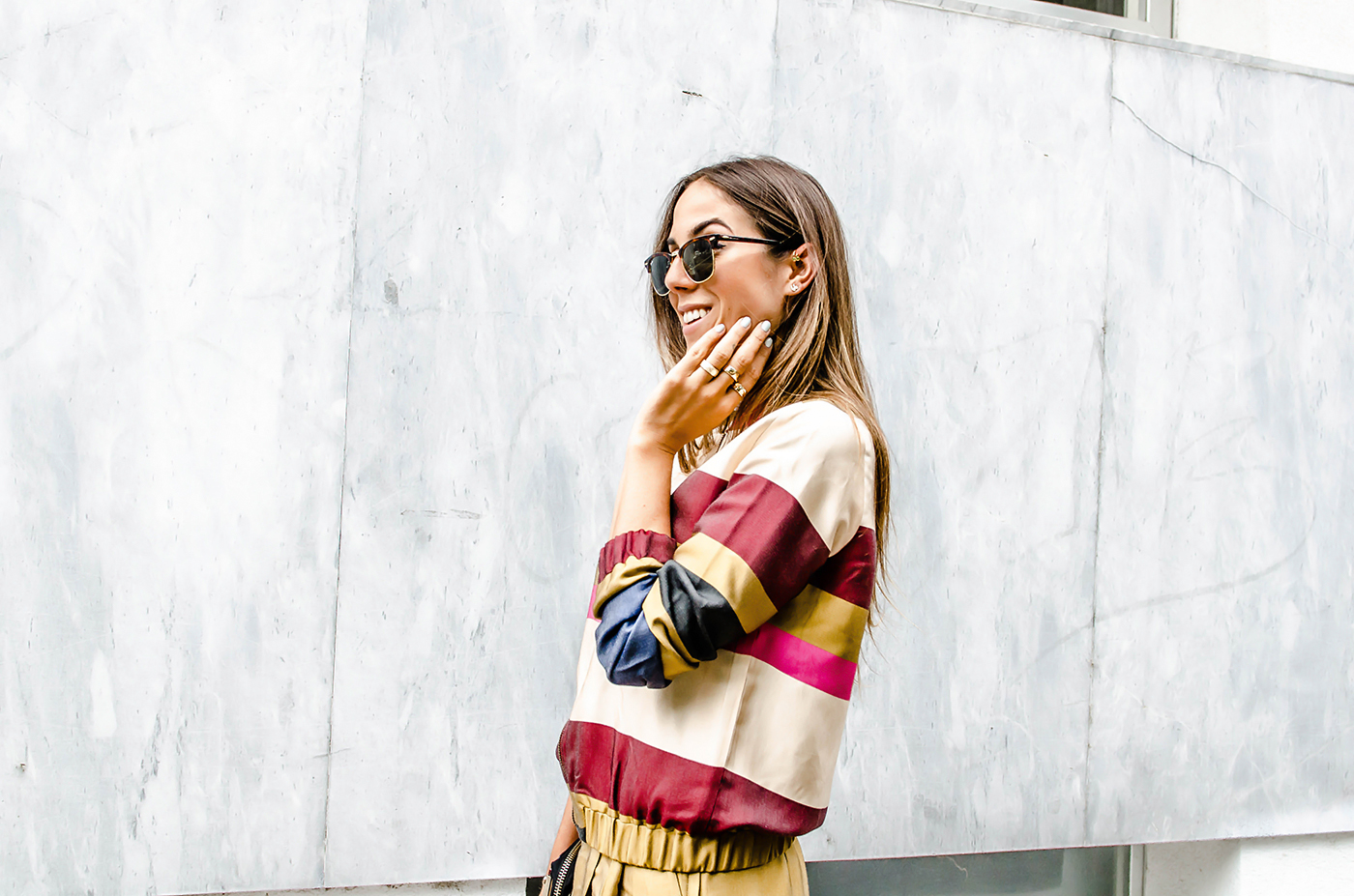 alison liaudat, blog mode suisee, co-ordinate, fashion blogger, guess, h&m, H&M trend collection, pop color, ray ban, swiss fashion blogger,