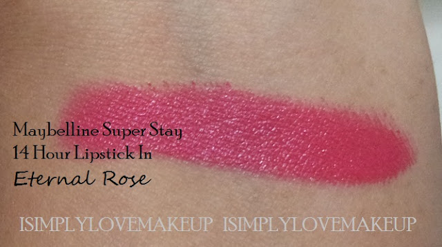 Maybelline 14hr Superstay Lipstick Eternal Rose Review
