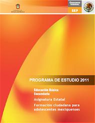 Programa 2011 Formación Ciudadana para Adolescentes Mexiquenses (descargar)