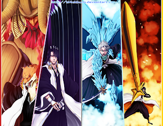 Kimimaru Byakuya Toshiro Soifon Bankai Bleach Captain Sword Weapons Anime HD Wallpaper Desktop Background