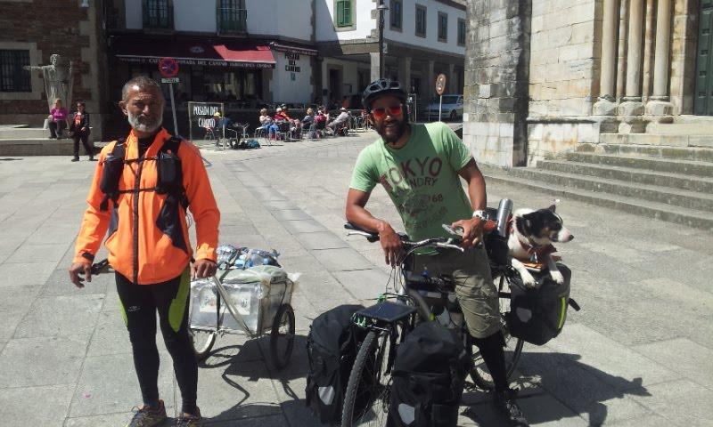 Novara - Santiago 2000 km a piedi con un rimorchio (clicca per vedere il blog)