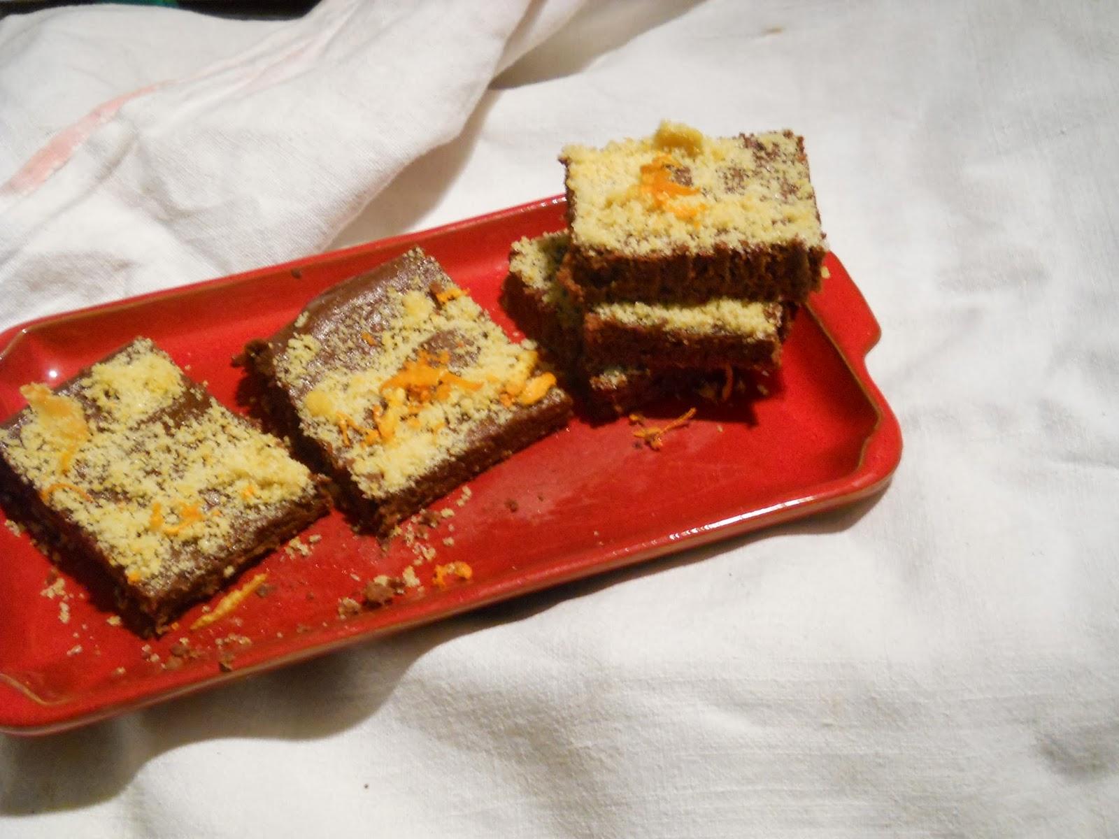 cubotti con arancia e cioccolato