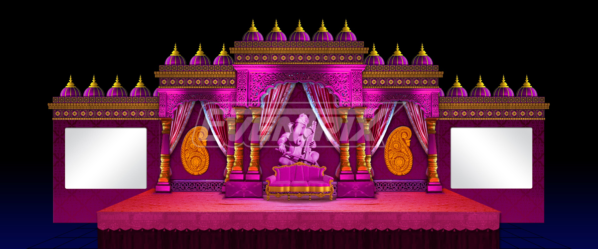 Stage Wedding Design 2d Set Design Executed Stage
