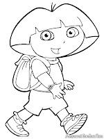 Mewarnai Gambar Kartun Dora The-Explorer
