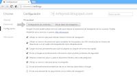 Privacidad - Configuración de contenido