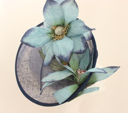 Colección Prímula - Tocado Plato azul