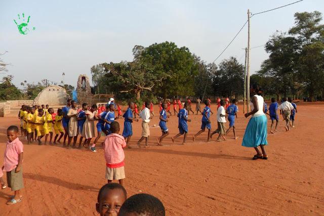 Il campo da gioco della scuola di Noepé, Togo, Africa