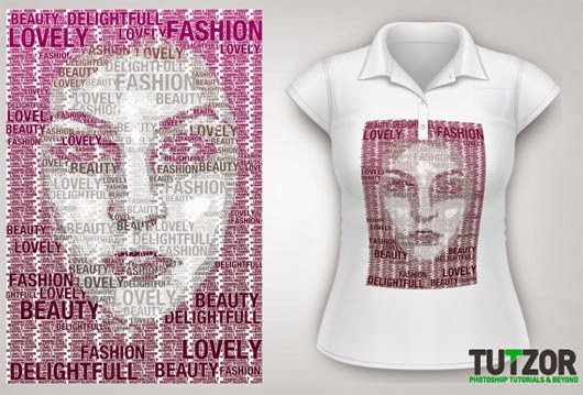 T-SHIRT WITH A TYPOGRAPHY PORTRAIT