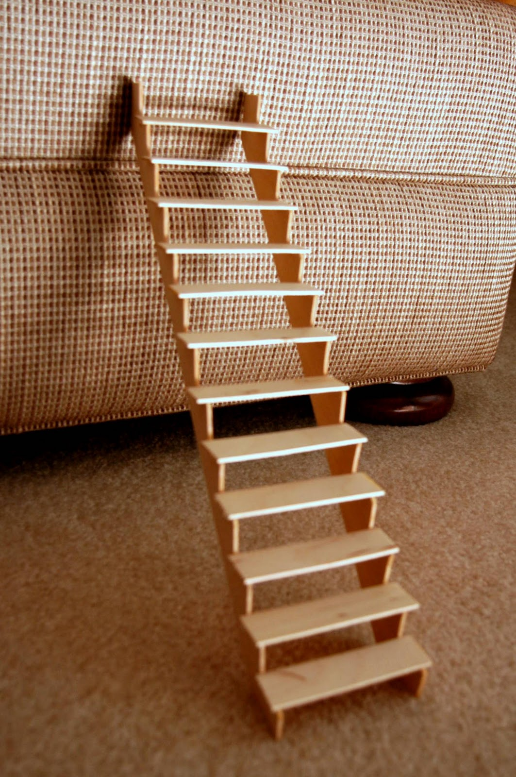 Merveilleux This Was A Huge Accomplishment That Took Way Less Time Than I Originally  Anticipated. The Sides Are Balsa Wood And The Steps Are Popsicle Sticks.