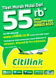Promo Citilink 55 ribu