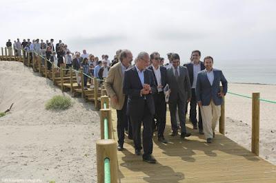 Visita de Miguel Alves com ministro e secretário de estado do ambiente