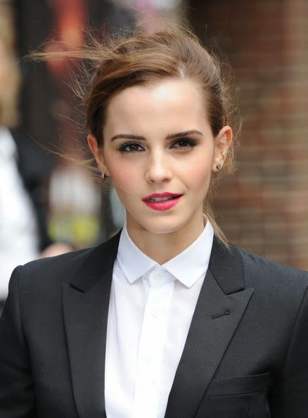 Hairstyle Photo Emma Watson Classic Bun Hairstyle Picture