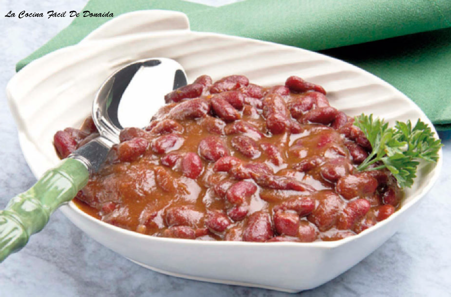 La cocina f cil de donaida alubias rojas con verduras - Calorias alubias cocidas ...