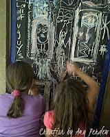 DIY Chalk Board Door for the kids...Creation by Amy Perdew