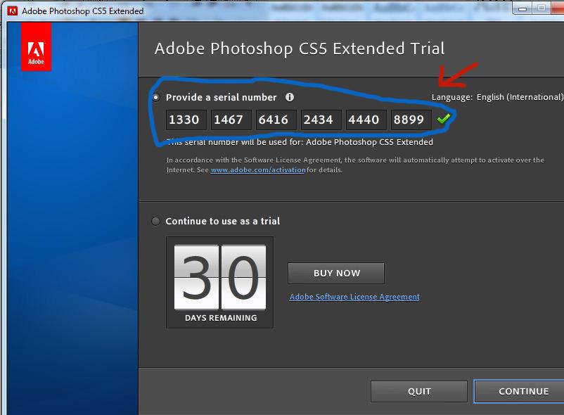 Adob photoshop cs4 serials & keys