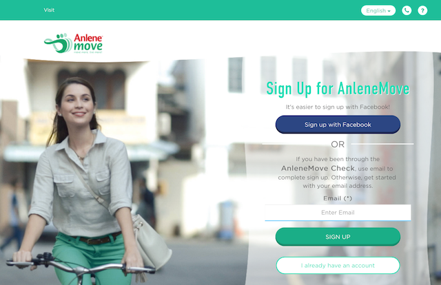 Sign up today for AnleneMove via their website or mobile app