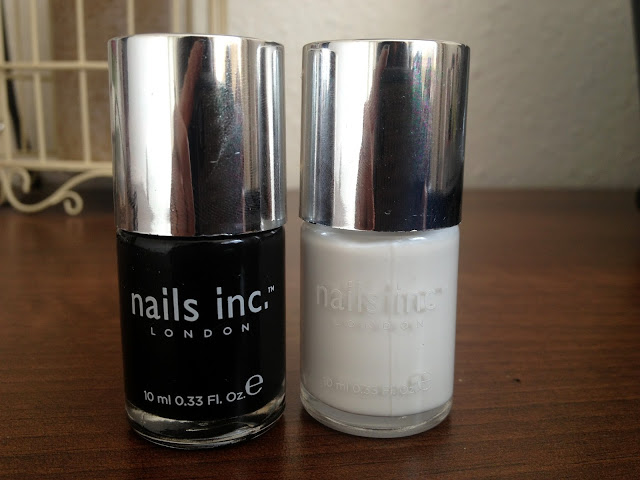 nails inc nail polish black taxi and floral street