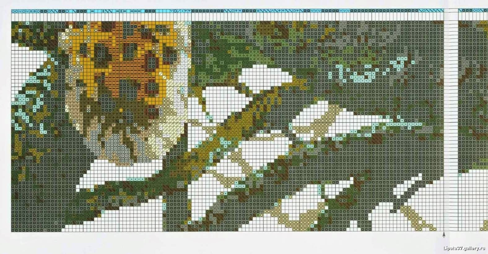 Вышивка крестом леопарды схема 93