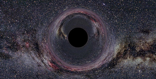 The black hole in the Milky Way is shown. Credit: Ute Kraus, Universität Hildesheim