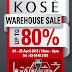 24 - 25 Apr 2015 Kose Warehouse Sale