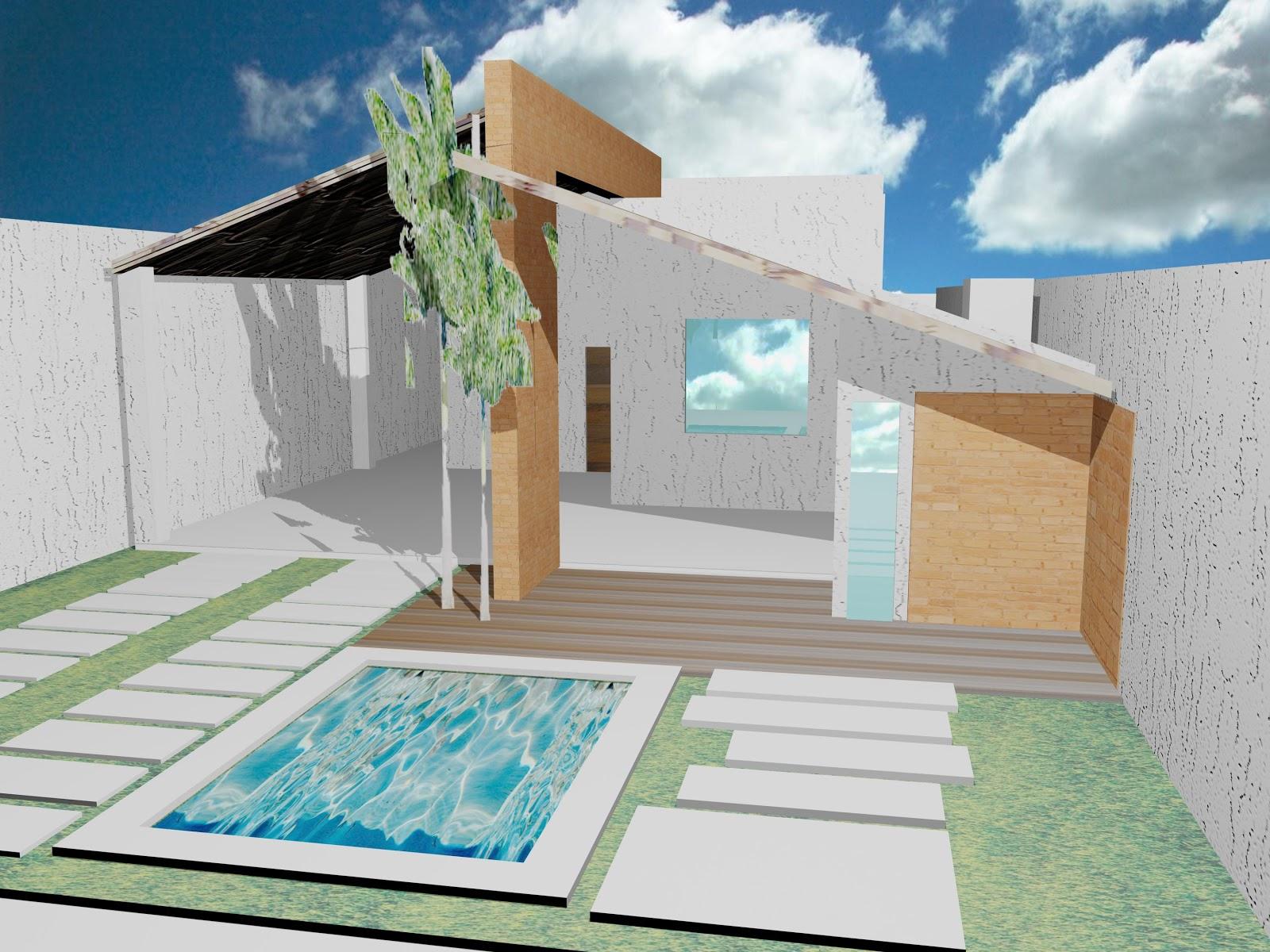 projeto de ofuro no jardim:Oficina de Arquitetura: Projetos de  #134B6D 1600 1200