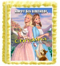 Barbie cakes for children parties