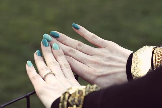 American Apparel Malibu Green Essie Turquoise Caicos
