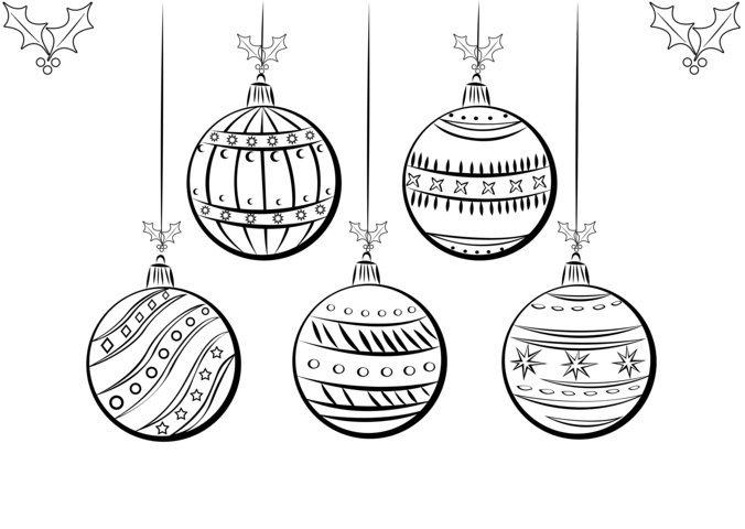 Blog MegaDiverso Adornos de navidad para pintar