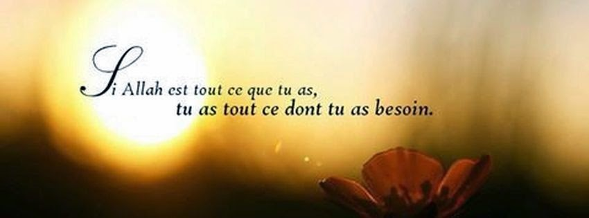 Couverture facebook citation islam