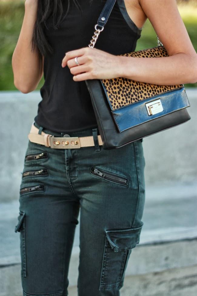 kate spade animal print purse bag