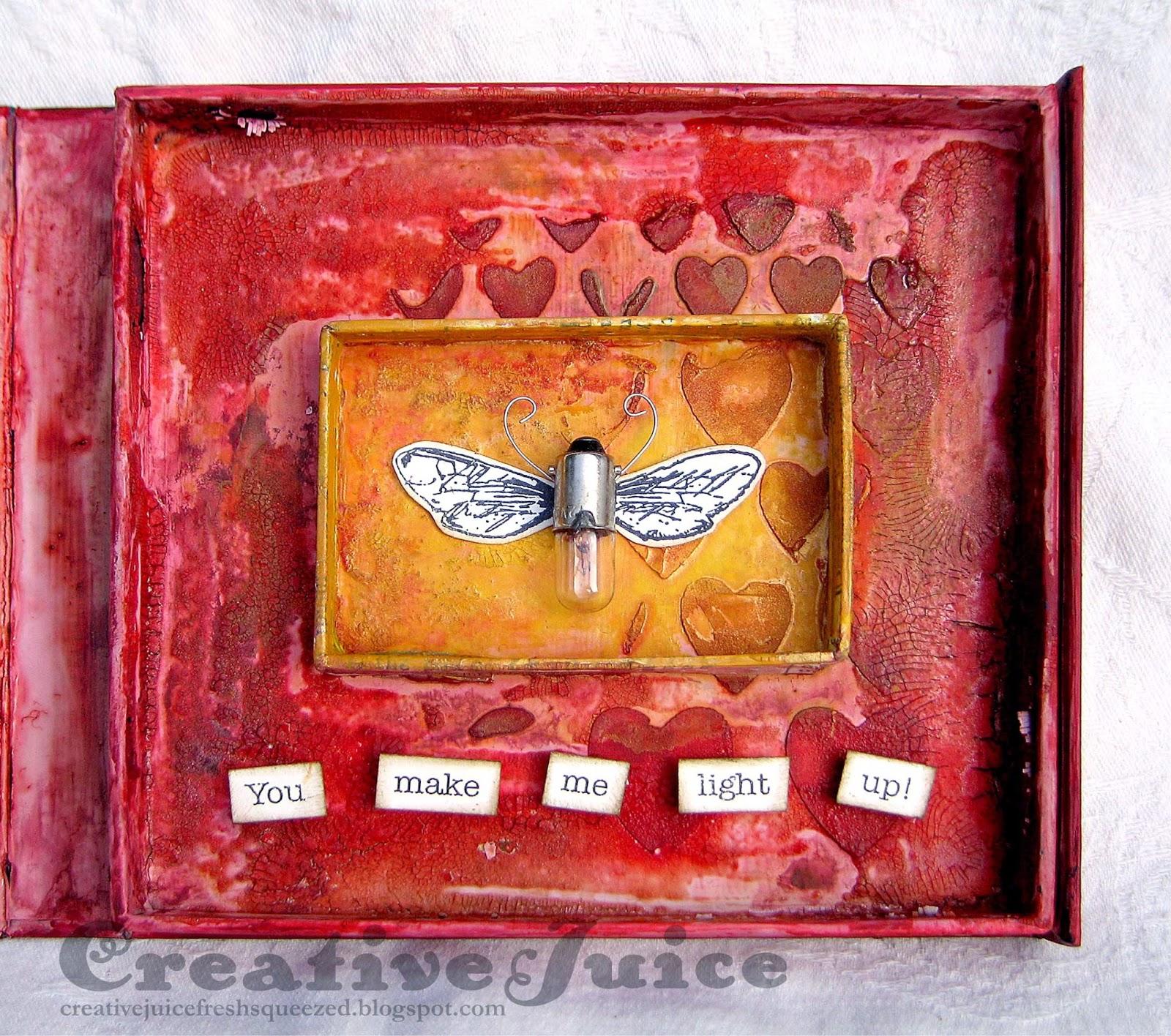 Compendium of Curiosities 3 Challenge #19 – Frayed Fabric Valentine