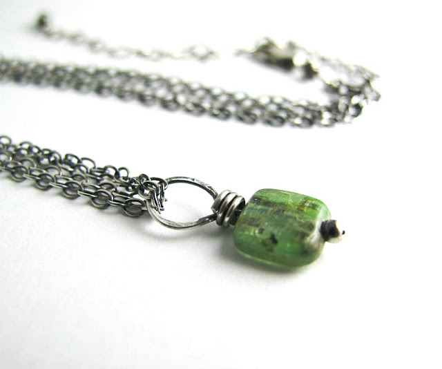 Spirit Guide Green Kyanite Necklace by Beth Hemmila of Hint Jewelry