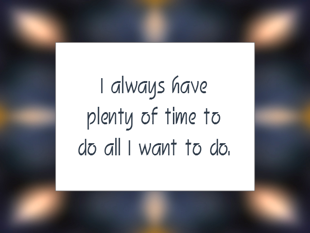 TIME MANAGEMENT affirmation