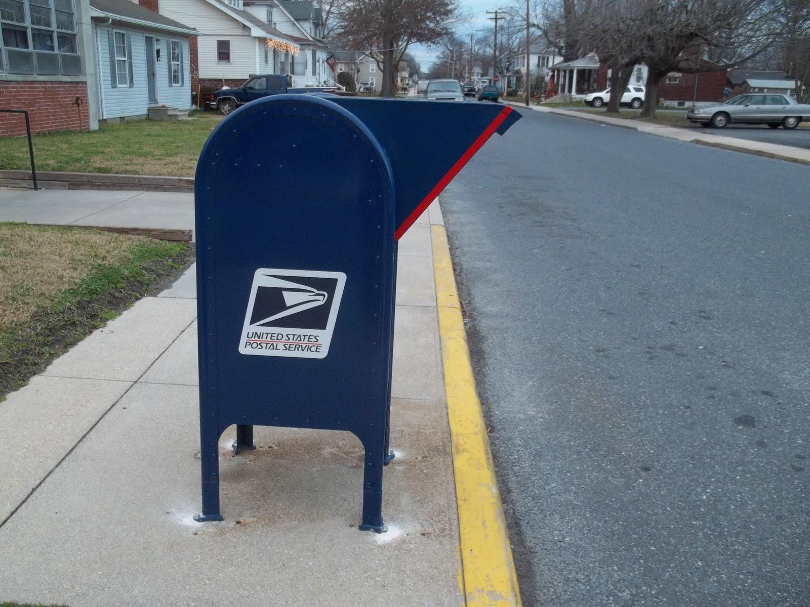 Blue Post Office Drop Box Near Me