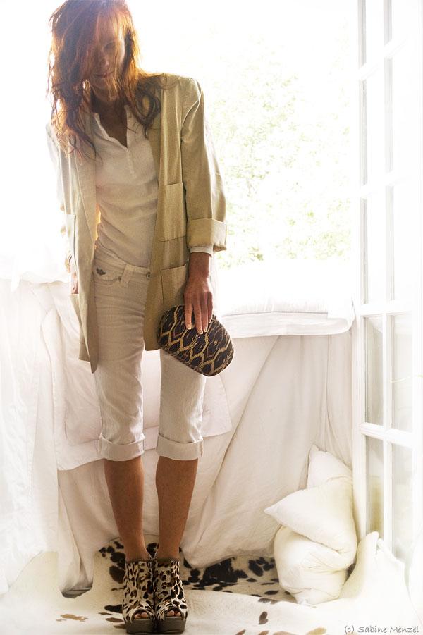 Psynopsis Faith Leopard Print Shoes River Island Jeans Vintage Chanel Blazer Vintage Ikat Clutch