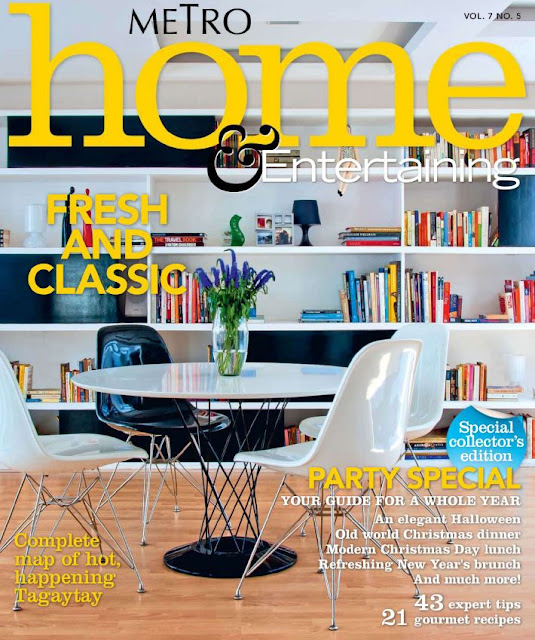 Interior design magazines Metro Home Entertaining November 2010