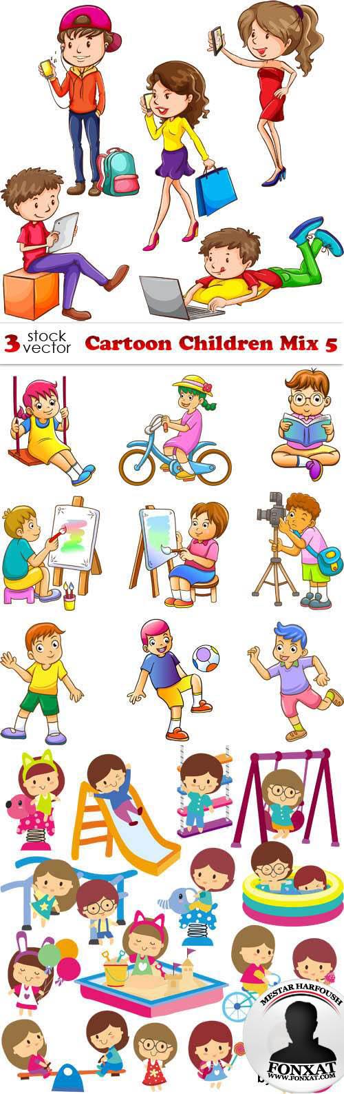 مجموعة صور اطفال كرتون فيكتور المجموعة 5