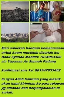 Donasi Kemanusiaan Untuk Muslim Suriah