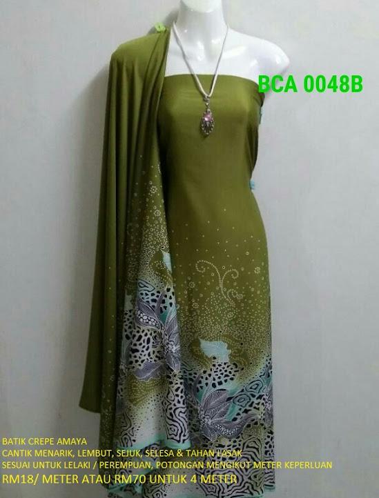 BCA 0048B: BATIK CREPE AMAYA, OPEN METER, RM18/MTR