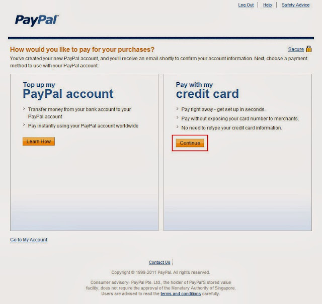how to register a paypal account