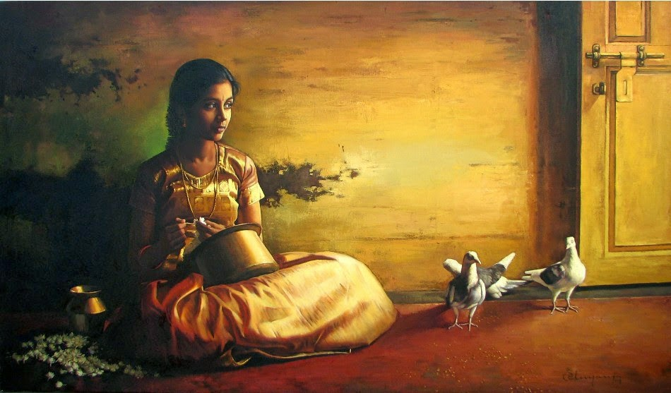 Chinar Shade Rural Women In The Paintings Of S