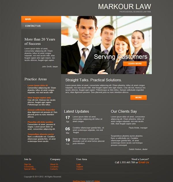 Markour Law - Free Wordpress Theme