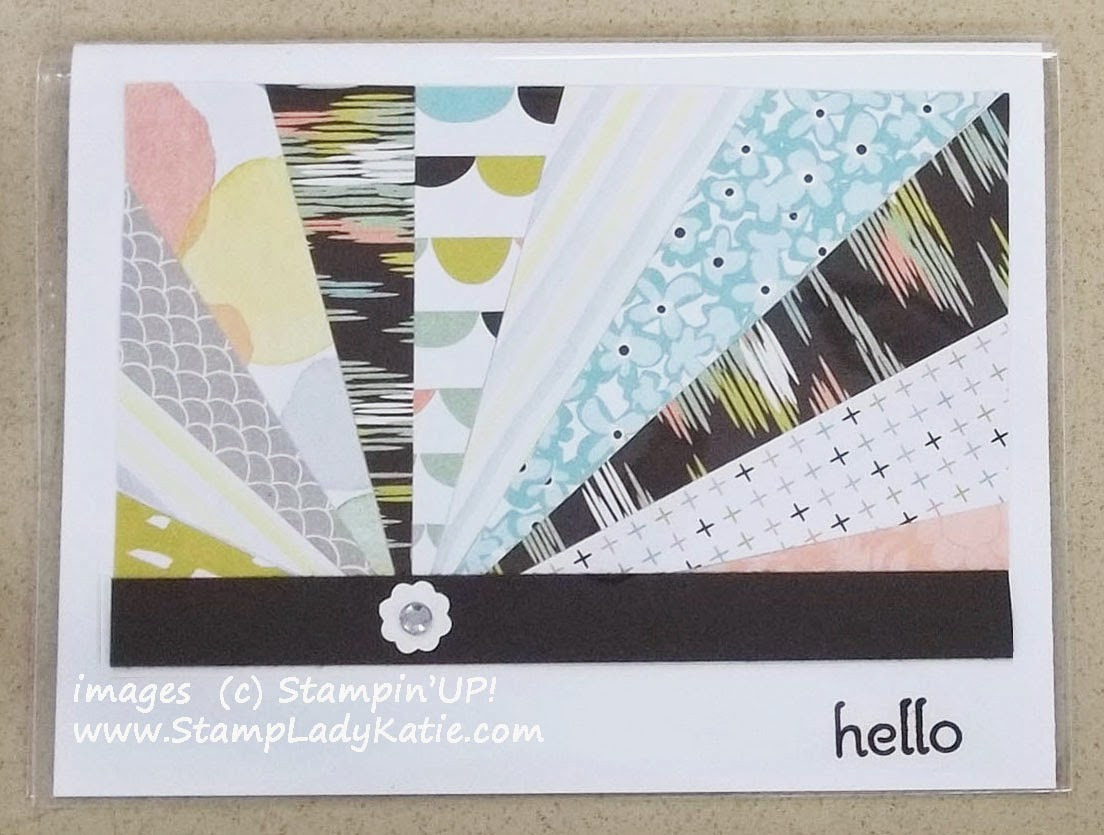 Sun Ray card made with Designer Papers