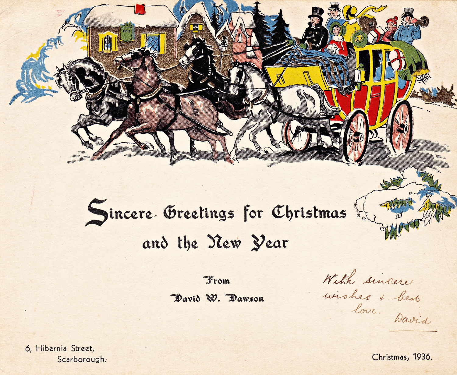 Image result for 1936 christmas card