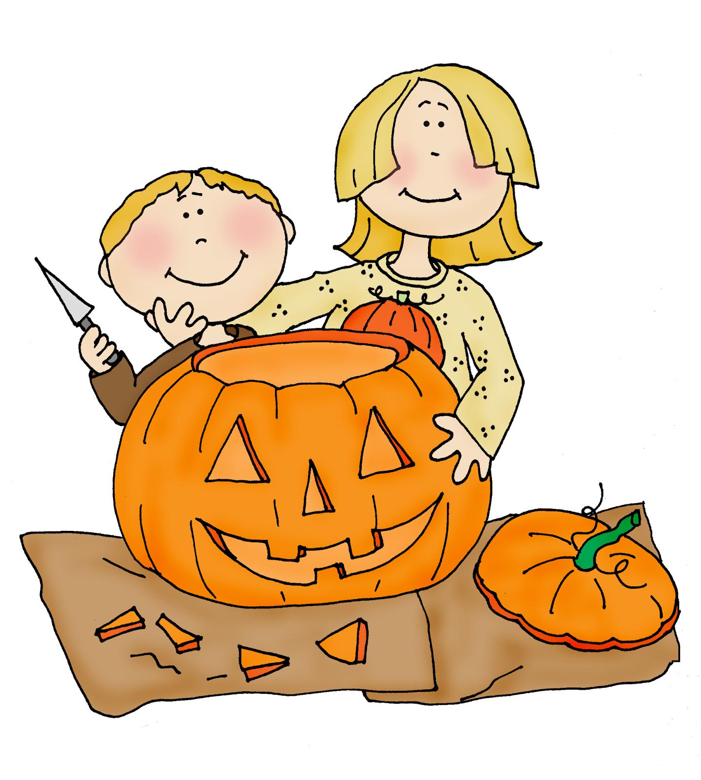 Free dearie dolls digi stamps pumpkin carving kids