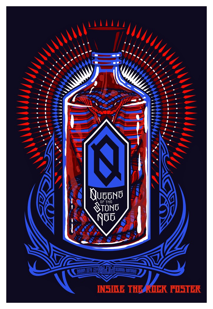 Queens Of The Stone Age Raleigh Poster By Brad Klausen World Premier Exclusive